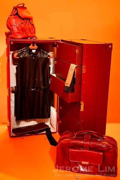 A travel wardrobe.