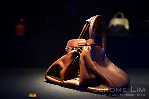A dance inspired leather bag.