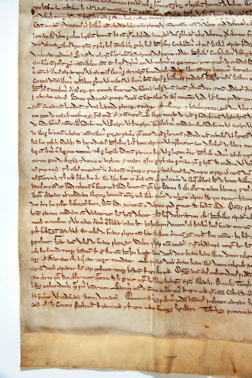 An image of part of the Hereford Cathedral's 1217 copy of the Magna Carta that will be on display at the Supreme Court (source: Hereford Cathedral).