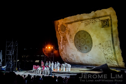 A stage set for the spirits of a Shakespearean play, The Tempest, at Fort Canning Green.