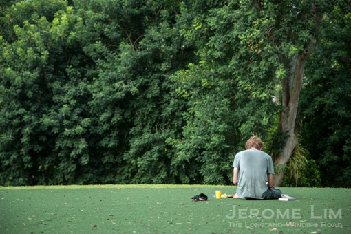 Fort Canning Green is still an attraction for those who appreciate quiet, contemplative surroundings.