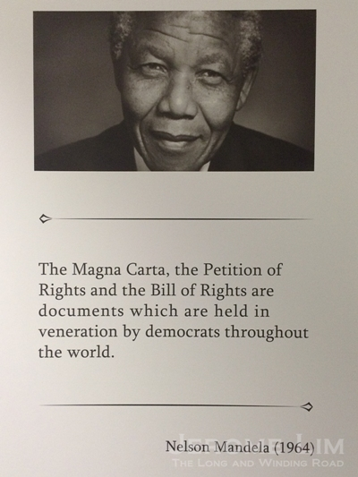 The late Nelson Mandela on the significance of the Magna Carta.