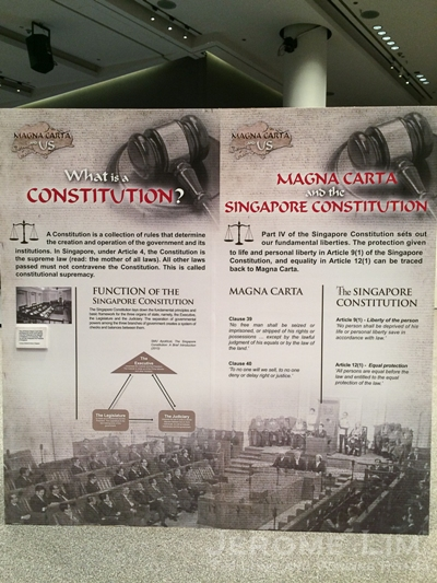 The Supreme Court's accompanying exhibition 'Magna Carta and Us'.