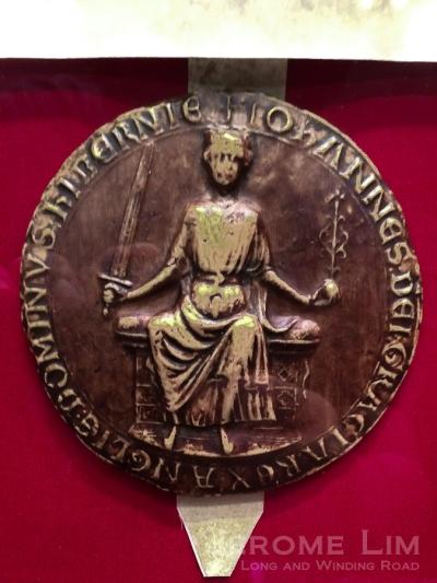 A replica of the seal of King John.
