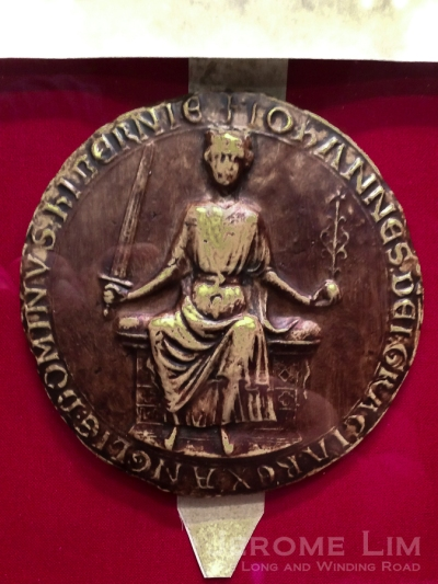 A replica of the seal of King John.