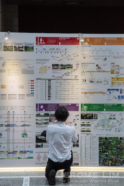 Viewing Nikken Sekkei's proposals.
