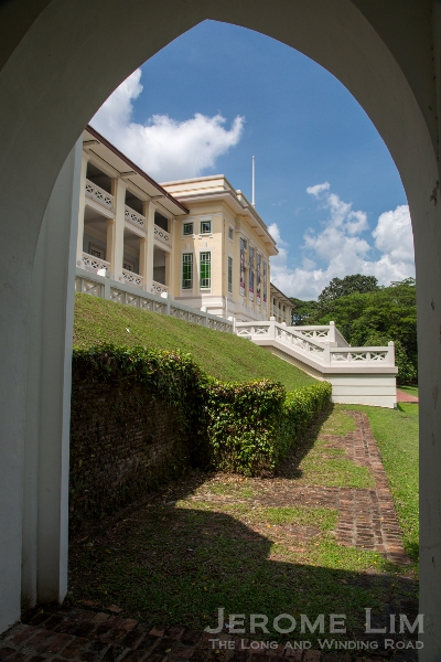 On the eastern slopes of Fort Canning Hill.