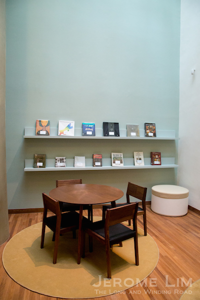 An art resource centre in the former Rotunda Library.