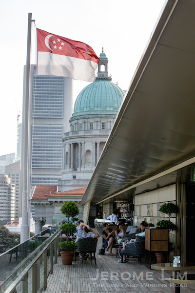 Roof terrace bars at City Hall.