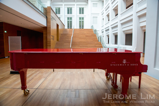 The red SG50 Steinway.