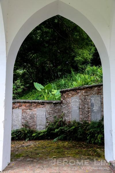 A southward view through the James Brooke Napier memorial.