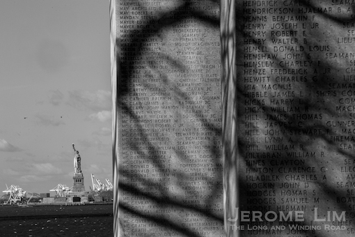 The East Coast Memorial at Battery Park.