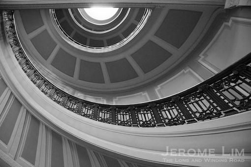 A staircase inside the Alexander Hamilton US Customs House.