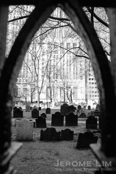 Darkness and light, death and life, Trinity Church Cemetery.