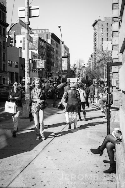 Lafayette Street (near intersection with Kenmare Street).