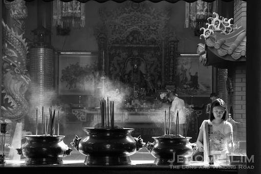 A peek into the late 19th century Kuan Ti temple at Jalan Tun H S Lee.