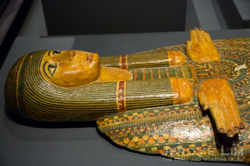 Mummy-board. Probably from Thebes, Egypt Late 21st or early 22nd Dynasty, 950–900 BC Wood, painted detail on plaster.
