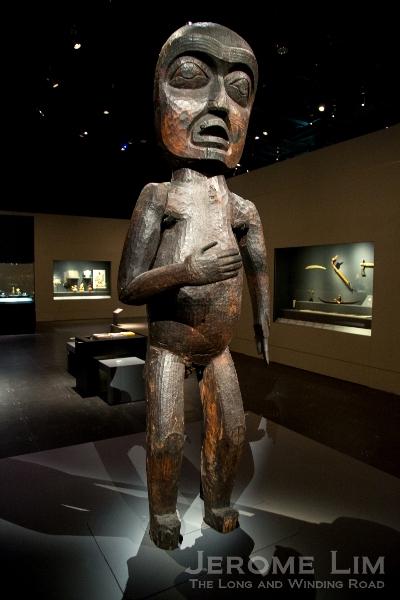 Welcome figure. Vancouver Island, Canada. Kwakwaka'wakw people, 19th century AD. Wood.