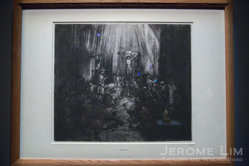The Three Crosses. Rembrandt (Harmensz van Rijn) (Dutch, 1606-1668). AD 1653. Dry point etching.