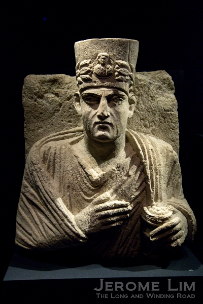 A memorial portrait bust of a priest from Palmyra, Syria.