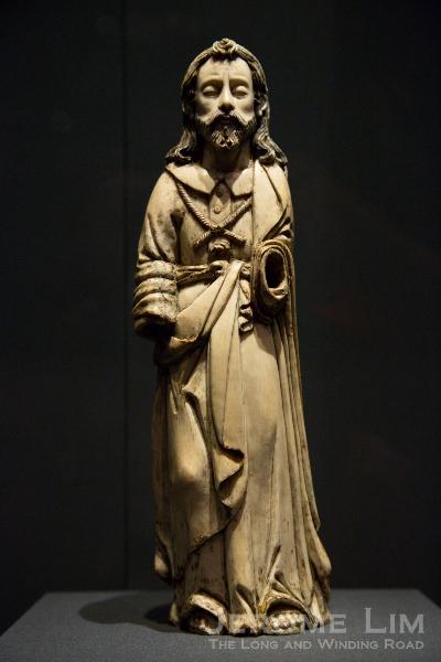 Ivory figure of St. Joseph. Hispano Philippine. 17th Century AD. Ivory, gilded.