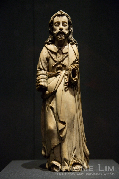 Ivory figure of St. Joseph. Hispano Philippine. 17th Century AD. Ivory, gilded.