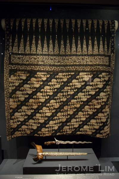 Earliest recorded batik and Sir Thomas Stamford Raffles collection. Batik cloth. Java, Indonesia. Before AD 1816. Cotton.
