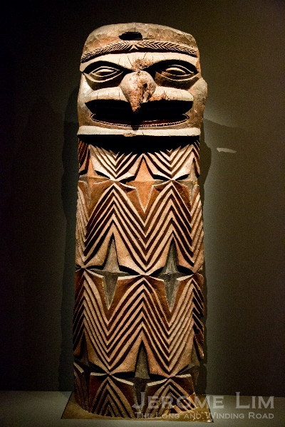 Door post. New Caledonia. 19th or early 20th century AD. Wood.