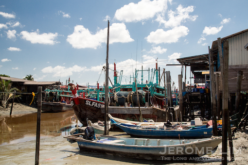 The fishing harbour.