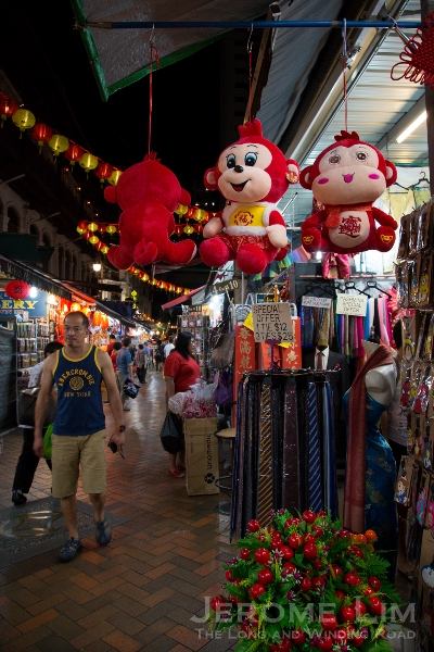 Stalls already stocked to welcome the year of the Monkey.