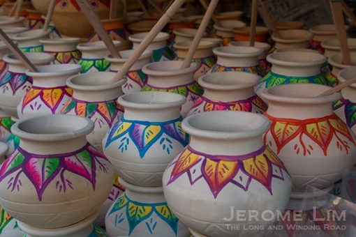 Decorated Clay Pots.