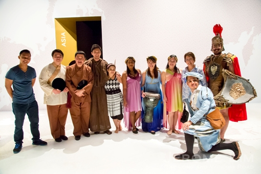 The cast with Peggy Ferroa (standing second from right).