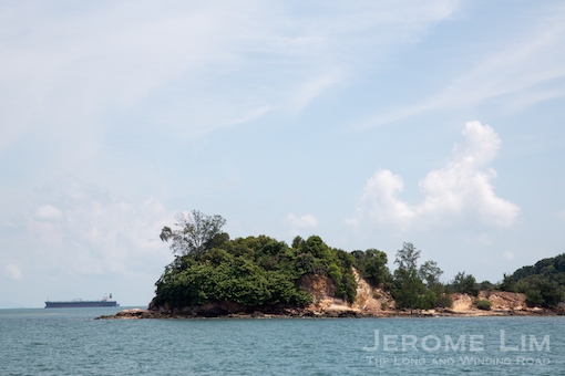 The violin, Pulau Biola a.k.a. Rabbit Island close to the southern reaches of Singapore's territorial waters.