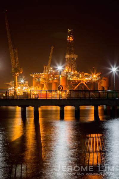 (44) Light and shadow - Sembawang Shipyard and the Beaulieu Jetty.