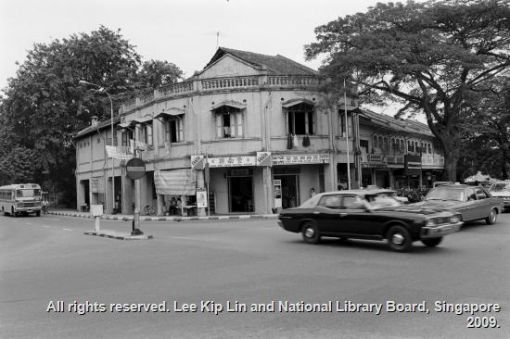 Corner of Moulmein Green and Rangoon Road (From the Lee Kip Lin Collection. All rights reserved. Lee Kip Lin and National Library Board, Singapore 2009).