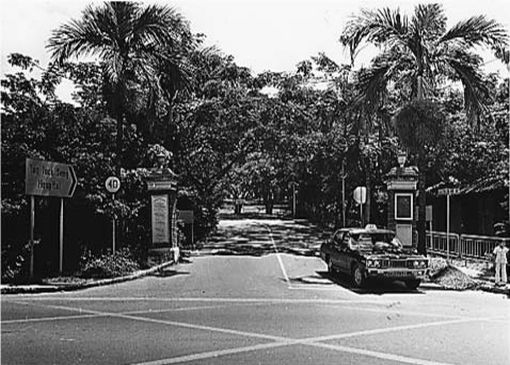 The entrance gate to Tan Tock Seng that once stood along Moulmein Road.
