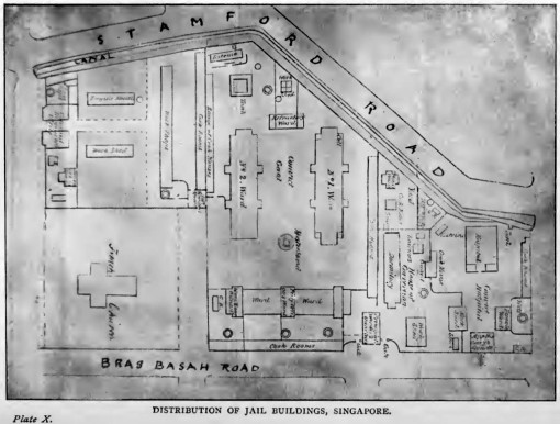 The Layout of the Bras Basah Gaol.