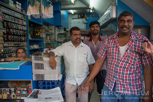 Sam, the current proprietor of the Thambi Magazine Store.