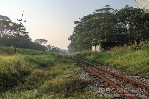 One of the stretches affected, at Tanglin Halt, during the days of the railway.