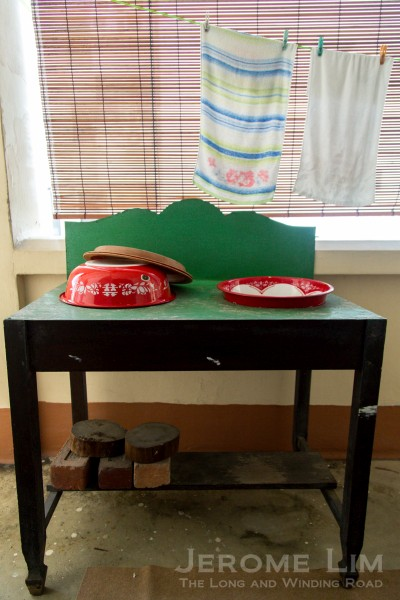 A washstand.