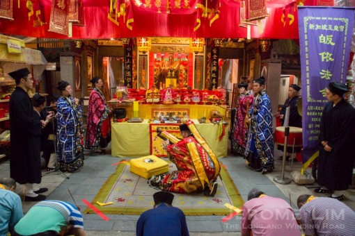 Pai Tee Kong prayers held at the former Keng Teck Whay.