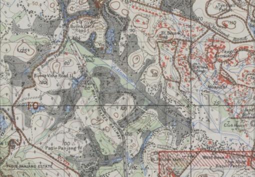 A 1945 map showing the train halt.