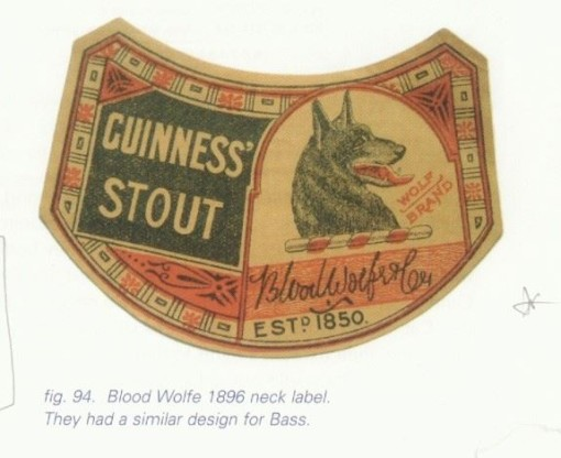 Blood Wolfe Neck Label 1896 (source: Guinness Singapore Facebook Page).