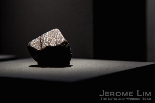 One of the largest uncut black diamonds to be found.