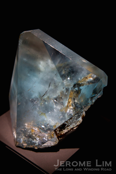 A 21,560 carat blue topaz crystal from the French National Museum of Natural History's collection.