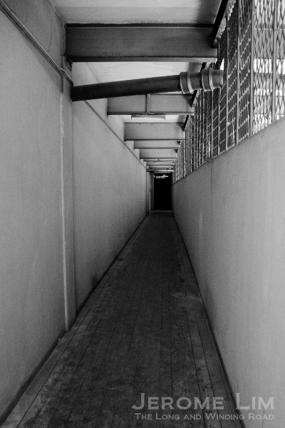 The passageway leading to the courtrooms.