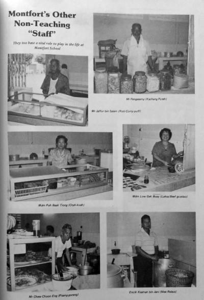 The Montfort School tuck shop (1985 Montfort School Annual / Montfort Alumni-Singapore Facebook Page).