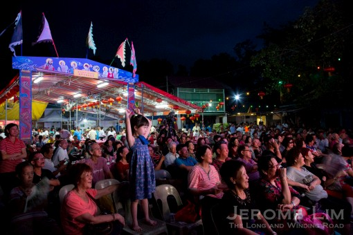 A larger crowd than ones previously seen turned up to watch the Getai performance held to send the popular deity off.