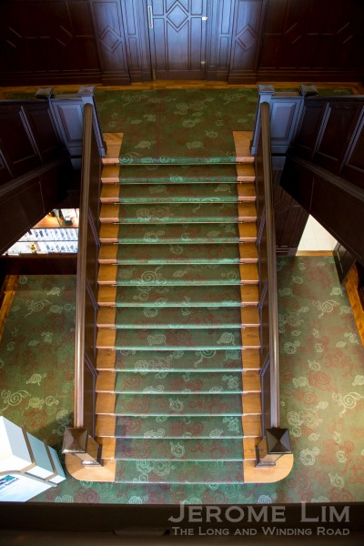 A view down the grand staircase.