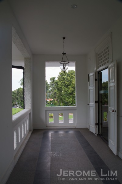 The balcony outside the former President's bedroom.